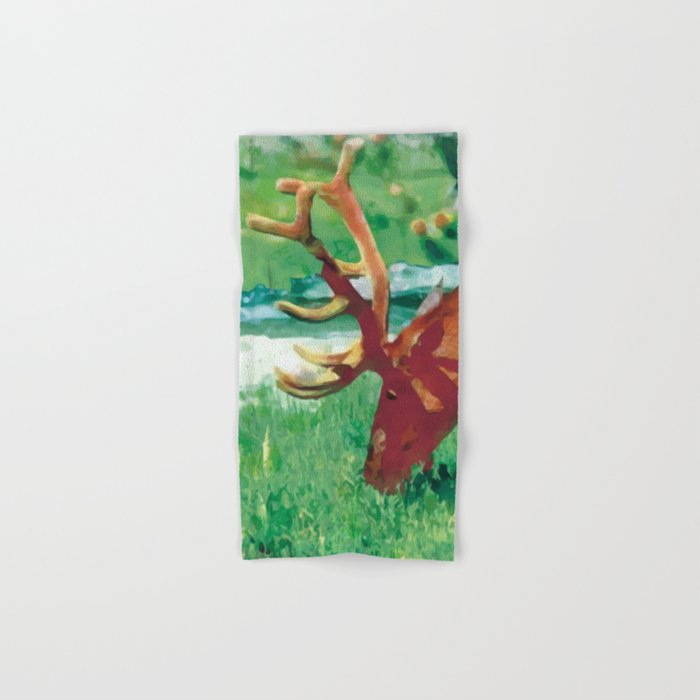 Deer on the edge of the forest Hand & Bath Towel