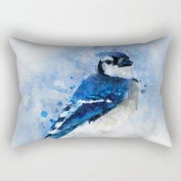 Watercolour blue jay bird Rectangular Pillow