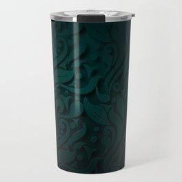 Elegant black and green floral design for home decoration Travel Mug