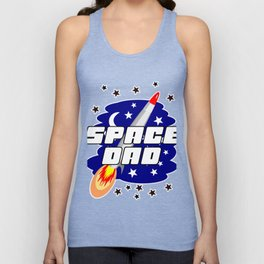 Aeronautics Galaxy Rocket Daddy Papa Gift Space Dad Father's Day Unisex Tank Top