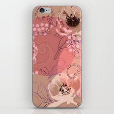 Hellabore line pattern, rose iPhone & iPod Skin