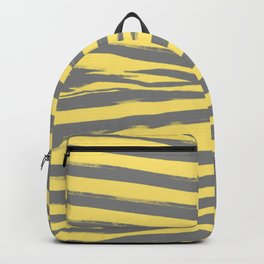 Yellow & Gray Stripes Backpack
