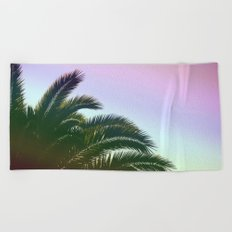 Palm Leaves  - Tropical Sky - Chilling Time Beach Towel