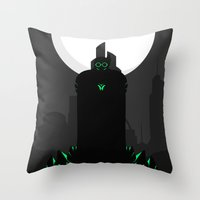 danny ivan Throw Pillows featuring Ivan Dyatlov by Oblivion Creative