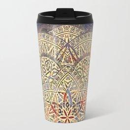 Gold Morocco Lace Mandala Travel Mug