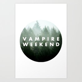 Vampire Weekend trees logo Art Print