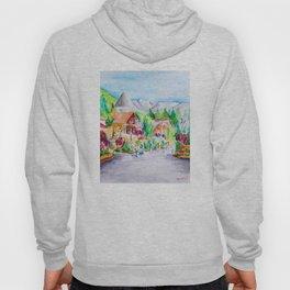 Vail Village Colorado Watercolor Hoody