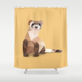 Ferret. Shower Curtain