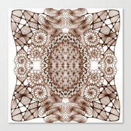 Renaissance Zentangle Tile Doodle Design Canvas Print
