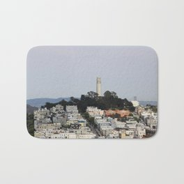 Streets Of San Francisco With Coit Tower Bath Mat