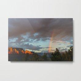 Sedona Rainbow Metal Print