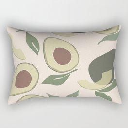 Modern Abstract Avocado Pattern Rectangular Pillow