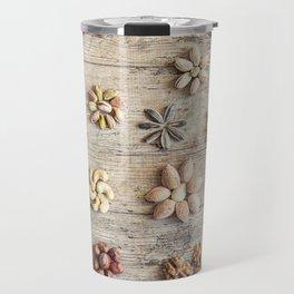 Dried fruits arranged forming flowers (4) Travel Mug