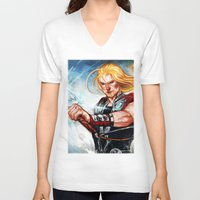 thor V-neck T-shirts featuring Thor by Boisson