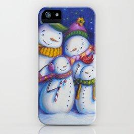 Snow Family Portrait iPhone Case