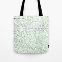 minimalism Tote Bags featuring Minimalism by Katie Kephart
