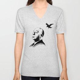 Alfred Hitchcock's bird Unisex V-Neck