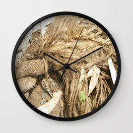 Fraying around the Edges Wall Clock