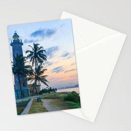 Galle fort lighthouse at sunrise, Galle, Sri Lanka Stationery Cards