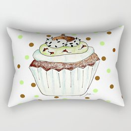 Chocolate Mint Cupcake Rectangular Pillow