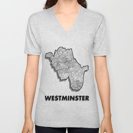Westminster - London Borough - Simple Unisex V-Neck