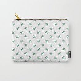 Cadmium Green on White Snowflakes Carry-All Pouch