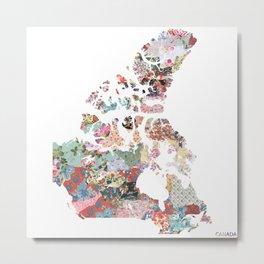 Canada map Metal Print