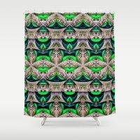 bamboo Shower Curtains featuring Bamboo by Zandonai Pattern Designs