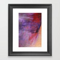 Red Vastness Framed Art Print