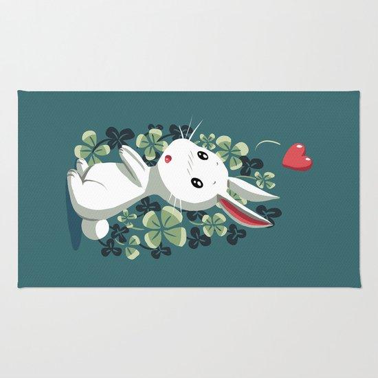 Clover Bunny Rug