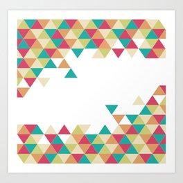 Artsy Summer Triangle Pattern Art Print