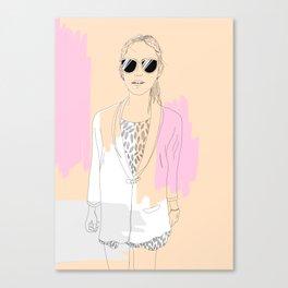 Precious Lady Canvas Print