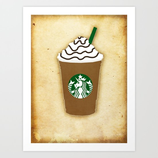 Coffee Unicorn Art Print