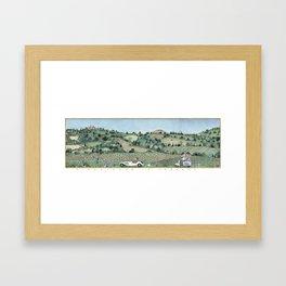VIAGGIANDO IN TOSCANA - vintage colors Framed Art Print