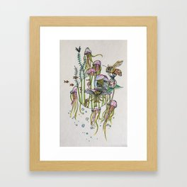 Hellebores and Jellyfish Framed Art Print