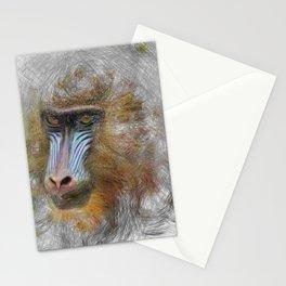 Artistic Animal Mandrill Stationery Cards