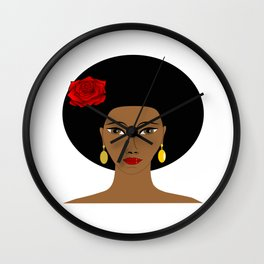 Afro Queen Wall Clock