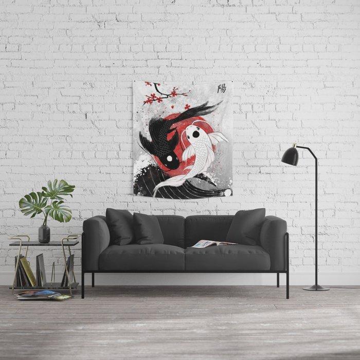 Koi fish - Yin Yang Wall Tapestry