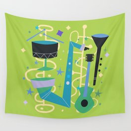 Midcentury Modern Fifties Jazz Composition Wall Tapestry