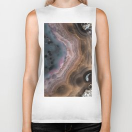 Multi colored agate slice Biker Tank