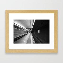Metro B and W Framed Art Print