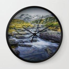 Snowdonia Mountains Wall Clock