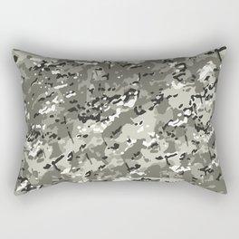 Beige White Popular Multi Camo Pattern Rectangular Pillow