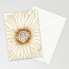 Gold Sunflower Stationery Cards