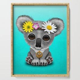 Cute Baby Koala Hippie Serving Tray
