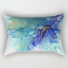 Electric Waves Violet Turquoise - Part 2 Rectangular Pillow