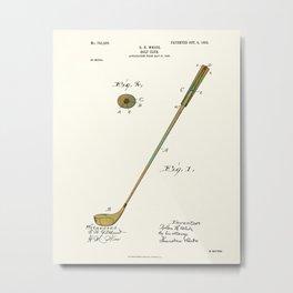 Golf Club Patent - Circa 1903 Metal Print