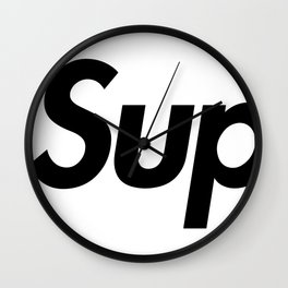 Supreme Black Letters Wall Clock