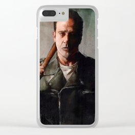 Negan (the walking dead) Clear iPhone Case