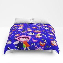 Spaceship Betty Afraid of the Dark Comforters